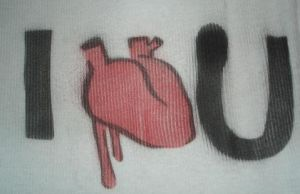 I Heart U stencil by Red-Revolver