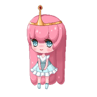 Pixel Page Doll- Princess Bubblegum by Aka-Yuuki