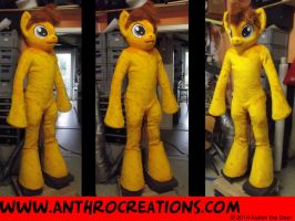 MLP Horse OC Char Fursuit Fin Yellow/Gold by AtalontheDeer