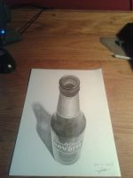 3D drawing Beer bottle by Jeroen88
