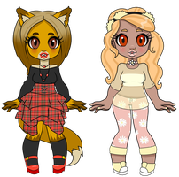 Fangin' duo adopts - Closed by Supertato