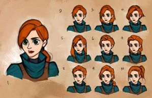 Sketch - Arya Hairstyles by charlestanart
