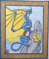 Dragon on Mountain by Ranasp