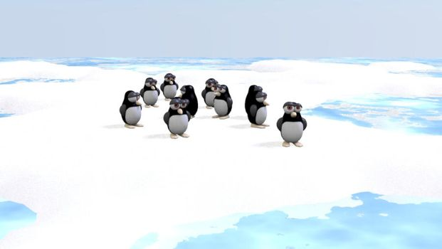 Penguins in the iceberg by MuDDiTToX