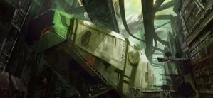 Docking Ship by Tomsleeps