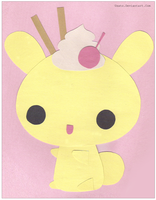 Meringue Bunny Paper Cutout by Usato