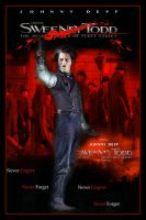 Sweeney Todd Movie Poster IV by Rickbw1