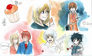 Death Note stuffs by Lapis-Razuri