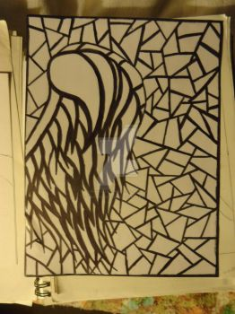 Base drawing for my Stain glass Marker drawing by Evanescence1995