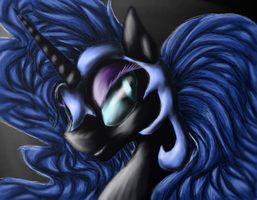 Nightmare Moon by Silvy-Fret