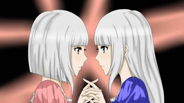Blue and her sister Violet by EllisIsWatchingYou
