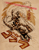GOJIRA: DAIKAIJU KING inks by pop-monkey