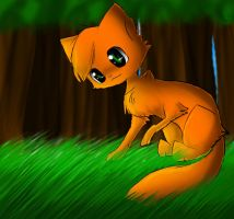 Young Firepaw by MaplerofSyrup