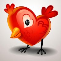 Valentines-Day-Heart-shaped-chicks by vectorbackgrounds