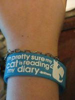 Brittany Quote Wristband by aluress