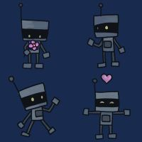 Cute Robot Pattern by NeroStreet