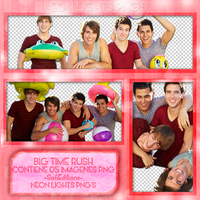 Big Time Rush - Pack PNG - Neon Lights PNG'S by SoffMalik