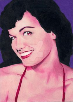 Betty Page by LaurenTirroArt