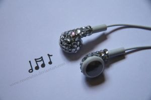Deco Den Apple Ear Buds x by RawrRufus