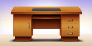 Computer office table design by GraphicsFuel