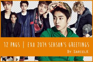 [PNG] EXO 2014 Season's Greetings by sarielk