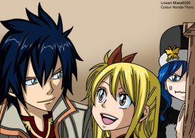 Fairy tail graylu chapter cover 278 -colour-. by Honda-Thoru