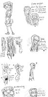 LUCRECIA AND KIL DOODLES by Candys-Killer