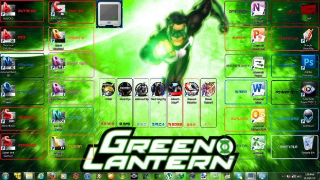 Green Lantern m17x.R3 Screenshot by namkolee