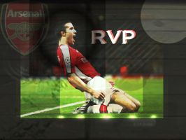 Van Persie Squares Wallpaper by Beasty9