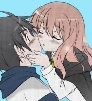 Louise and Saito First Kiss by DarkYuny