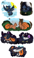 PN: Murkrows, Vulpixes and Crosses (CLOSED) by Eiliakins