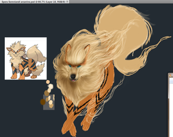 Arcanine Wip2 by Seraphoid