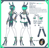 Melotina's Reference Sheet by Eelball