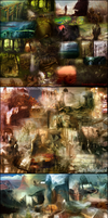 Level Design Moodboards by Cique
