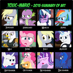 2015 Toxic-Mario Pony Art Summary by Toxic-Mario