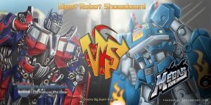 Megas XLR vs Optimus Prime by Frarandez