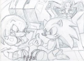 Playing chess -sketch- by DeNiisee