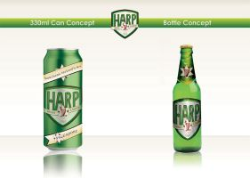 Harp Lager Bottle and Can by rbryant