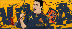 David Villa Spain by akyanyme
