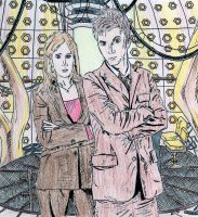 The Doctor + Donna Coloured by HaanaArt