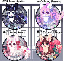 Auction-(SOLD) Mixed Themed Kitsunet Batch by Miizue