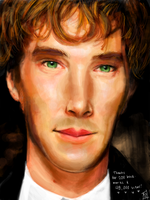 Tegaki - Cumberbatch and a Thank You by Sukautto