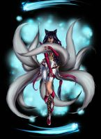 Ahri from LOL, commission for a good friend by Erobertix