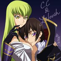 C.C. and Lelouch by Arc-Ecclesia