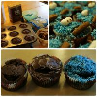 Cookie monster cupcake by NellyL
