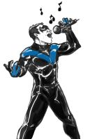 Nightwing Sings by xashe