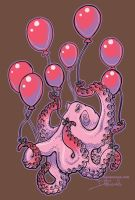 Red Balloons TShirt by dmillustration