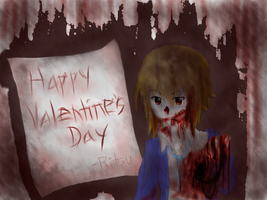 I give you my heart _Zombie Ritsu by jaja-sick-bear