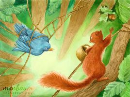 The Squirrel Who Was Afraid Of Heights - Tangled by monbaum