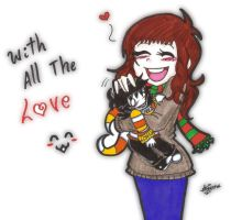 Hugging your candycorn monster by SweetxAriannaxEngel